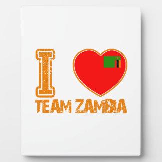 zambian sport designs plaque