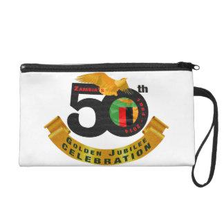 Zambia's 50th Anniversary Golden Jubilee Bagette Wristlet Purse