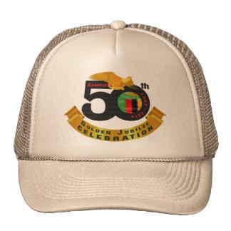 Zambia's 50th Anniversary Golden Jubilee Cap Trucker Hat