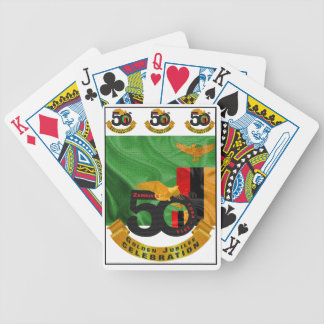 Zambia's 50th Anniversary Golden Jubilee Cards Bicycle Playing Cards