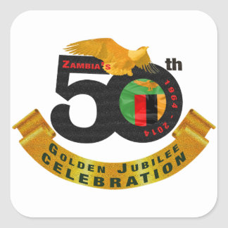 Zambia's 50th Anniversary Golden Jubilee Sticker