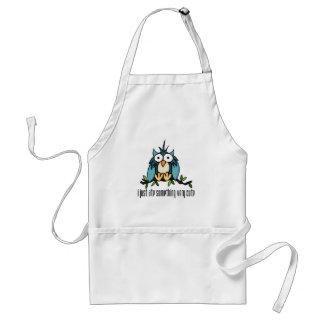 Zambooki - Owl I just ate something very cute Adult Apron