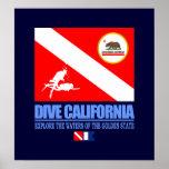 Zambullida California Poster