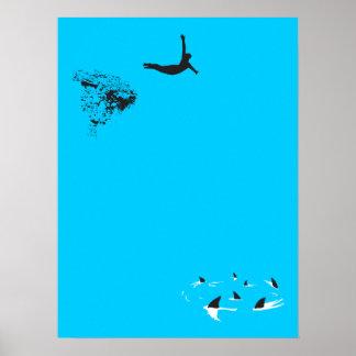 zambullida de cisne póster