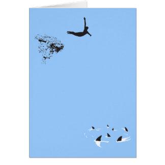 zambullida de cisne tarjeta pequeña