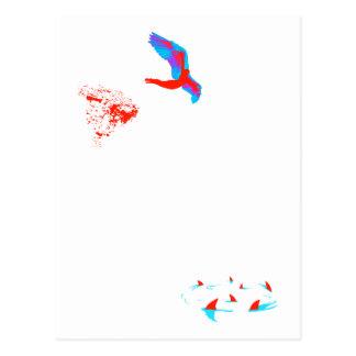 zambullida de cisne postales