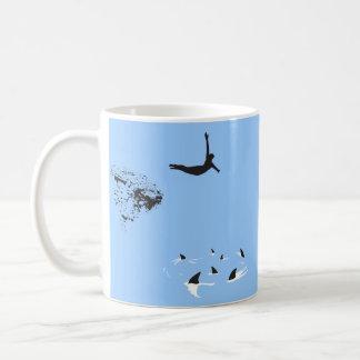 zambullida de cisne tazas de café