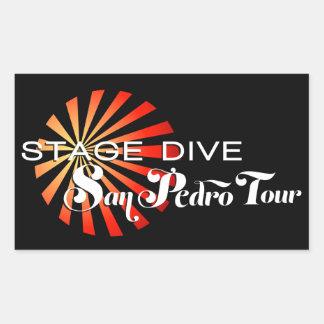 Zambullida de la etapa - viaje de San Pedro Pegatina Rectangular