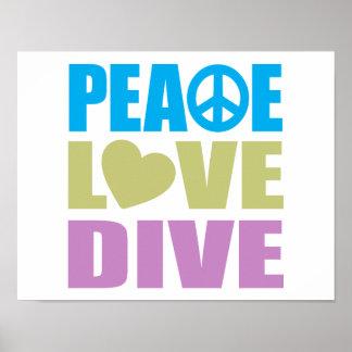 Zambullida del amor de la paz poster