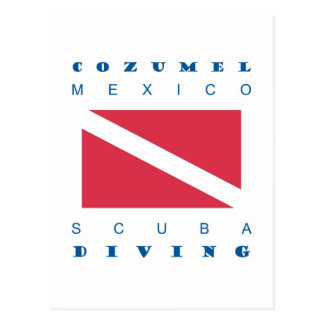 Zambullida del equipo de submarinismo de Cozumel M Postales