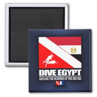 Zambullida Egipto Imán Cuadrado
