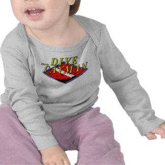 Zambullida Gran Caimán Camisetas