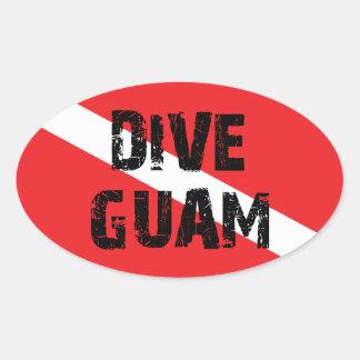 Zambullida Guam Pegatina Ovalada
