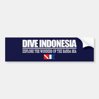 Zambullida Indonesia Bumpersticker Etiqueta De Parachoque