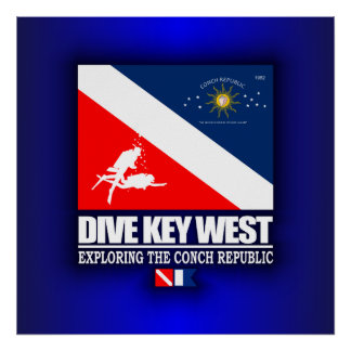 Zambullida Key West Póster