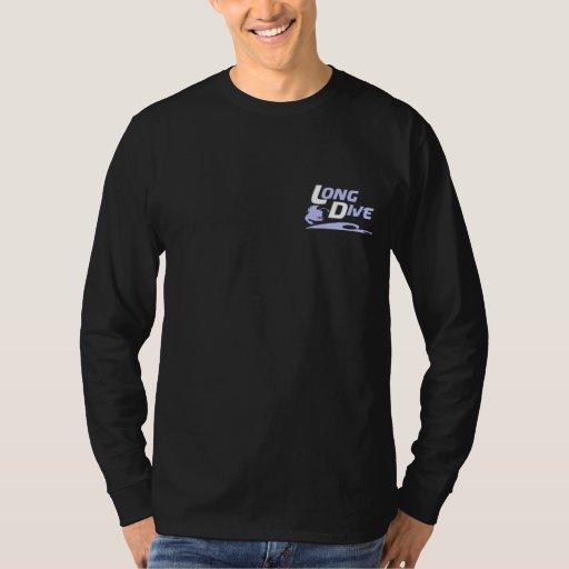 Zambullida larga: Camiseta larga de la manga del Poleras