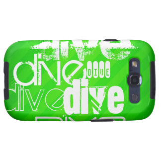 Zambullida; Rayas verdes de neón Samsung Galaxy SIII Funda