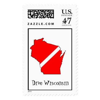 Zambullida Wisconsin Estampilla
