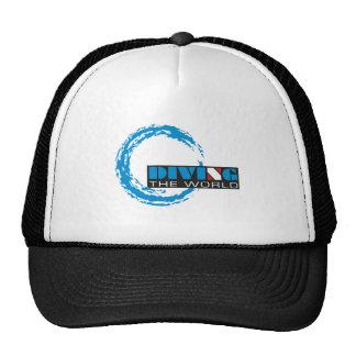 Zambulliéndose el mundo, camiseta del buceo con gorra