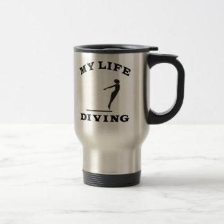 Zambulliéndose mi vida taza de café