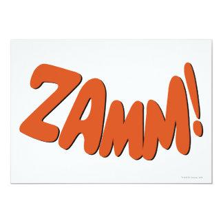 """¡ZAMM! INVITACIÓN 5"""" X 7"""""""