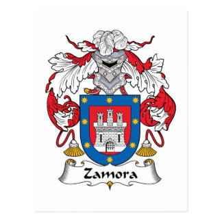 Zamora Family Crest Postcard