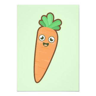 """Zanahoria de Kawaii Invitación 5"""" X 7"""""""