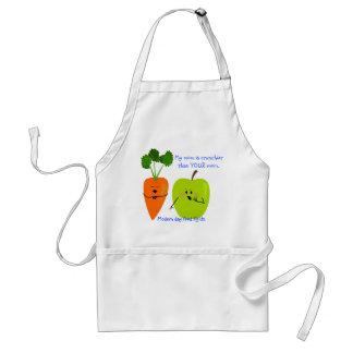 Zanahoria de la mamá y delantal crujientes de Appl
