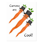 Zanahoria de lujo de hombres con un bigote del tarjeta postal