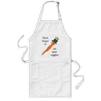 Zanahoria de lujo divertida delantal largo