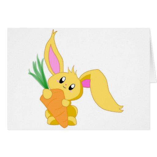 Zanahoria el conejito tarjeta de felicitación