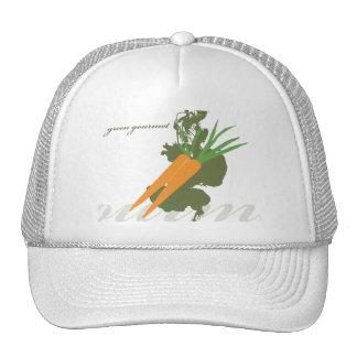 Zanahoria gastrónoma verde gorro de camionero