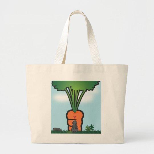 Zanahoria grande de Bunneh Bolsa De Tela Grande