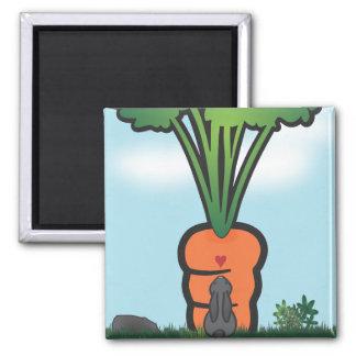 Zanahoria grande de Bunneh Imán Para Frigorifico