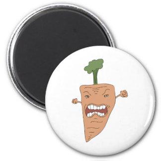 zanahoria imán redondo 5 cm