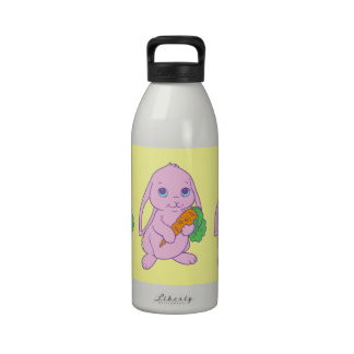 Zanahoria linda del conejo de conejito del dibujo  botella de agua reutilizable