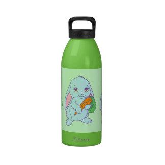 Zanahoria linda del conejo de conejito del dibujo  botellas de beber