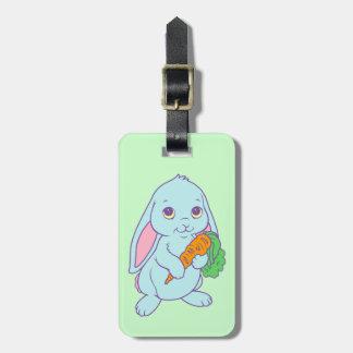 Zanahoria linda del conejo de conejito del dibujo  etiquetas bolsas