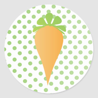 Zanahoria linda pegatina redonda