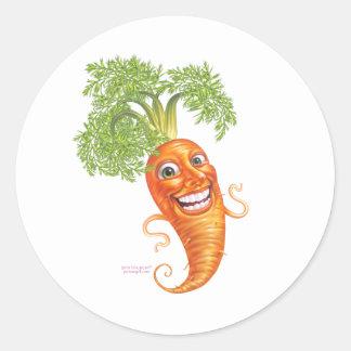 zanahoria pegatinas redondas