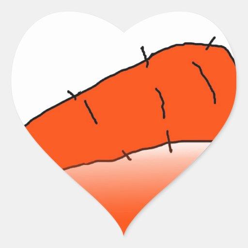 Zanahoria Pegatina En Forma De Corazón