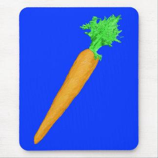 Zanahoria pintada alfombrilla de raton
