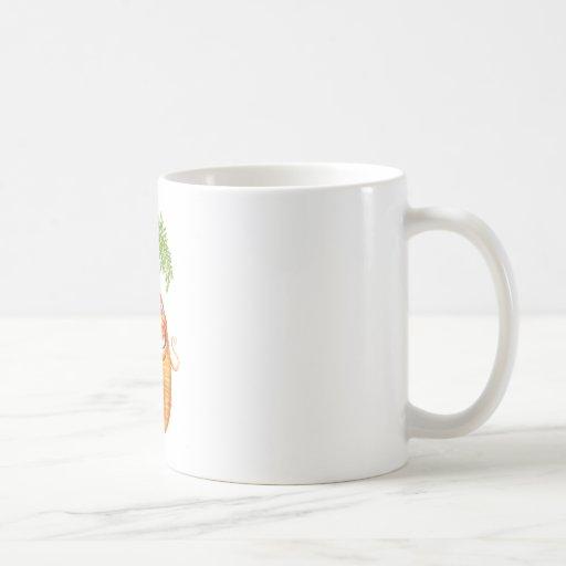 zanahoria taza básica blanca