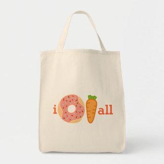 Zanahoria toda del buñuelo I, no cuido en toda la Bolsa Tela Para La Compra