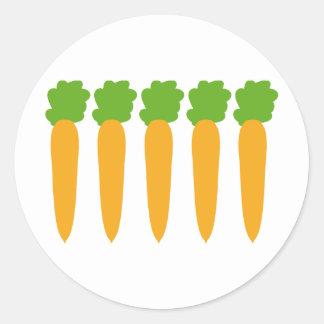 zanahorias alineadas etiqueta