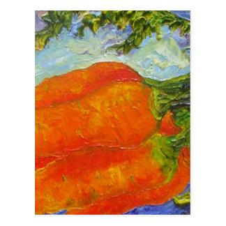 Zanahorias anaranjadas tarjetas postales