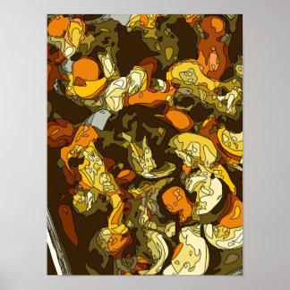 Zanahorias asadas a la parrilla calabacín y plato impresiones
