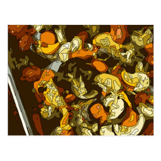 Zanahorias asadas a la parrilla calabacín y plato postal