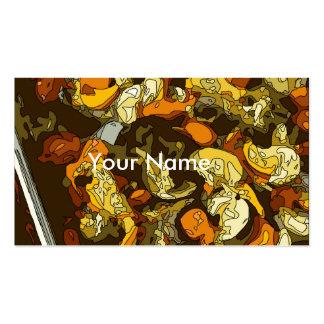Zanahorias asadas a la parrilla calabacín y plato tarjetas de visita