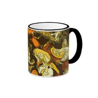 Zanahorias asadas a la parrilla calabacín y plato tazas de café